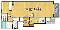 大阪府大東市錦町の賃貸アパートの間取り
