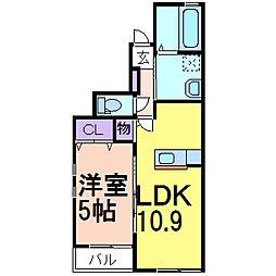 グリーンガーデンII B棟[1階]の間取り