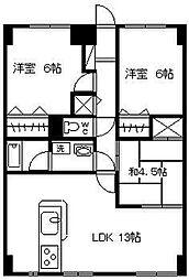 野中マンション[205号室]の間取り