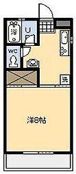 バートンプレイス[203号室]の間取り