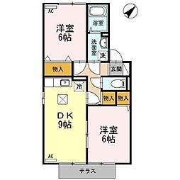 メゾンドール B棟[1階]の間取り