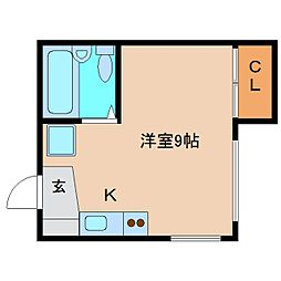 静岡県静岡市清水区春日2丁目の賃貸アパートの間取り