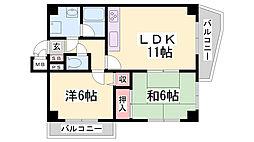 LM西代通[6階]の間取り