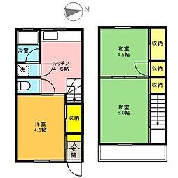 [テラスハウス] 東京都立川市富士見町2丁目 の賃貸【/】の間取り