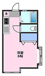 霞ヶ関フラット[1階]の間取り