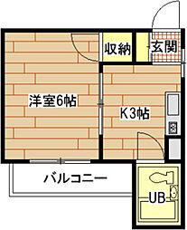広島県広島市南区出汐1丁目の賃貸マンションの間取り
