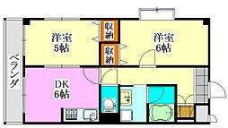 広瀬ビルII[3階]の間取り