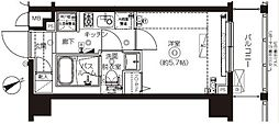 東京都板橋区上板橋2丁目の賃貸マンションの間取り