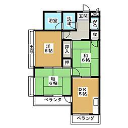 小栗マンション[3階]の間取り
