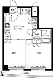 東京都中野区鷺宮2丁目の賃貸マンションの間取り