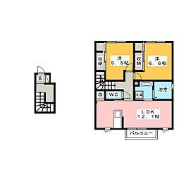 仮)D-room東小浜 B[2階]の間取り
