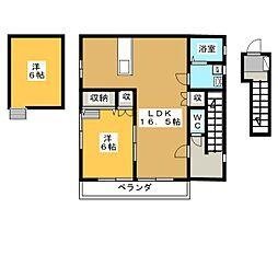 さくらハイツ[2階]の間取り
