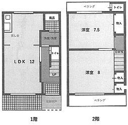 [テラスハウス] 大阪府堺市中区深井中町 の賃貸【/】の間取り
