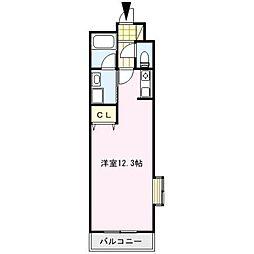 ヒューメキャステッロ[1階]の間取り