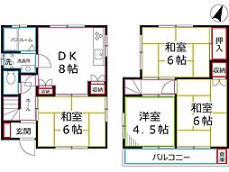 [一戸建] 東京都国分寺市西恋ヶ窪1丁目 の賃貸【/】の間取り
