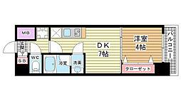 プレジオ神戸WEST[803号室]の間取り
