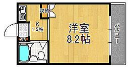 第1モギハイツ[2階]の間取り