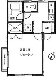 東京都品川区大井6丁目の賃貸アパートの間取り