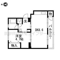 水戸田マンションA棟[304号室]の間取り