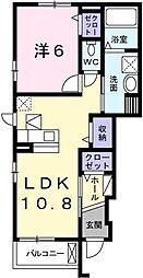 カトレーヴVIII[1階]の間取り