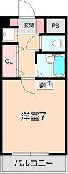 千里園Cube&Wall[205号室]の間取り