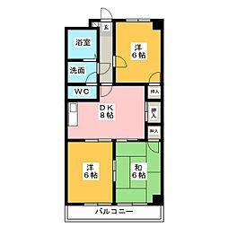 セピア桜苑[2階]の間取り