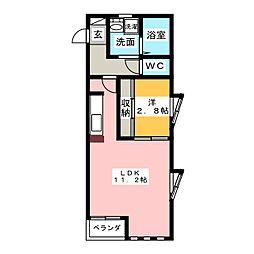 Sereno セレーノ[2階]の間取り