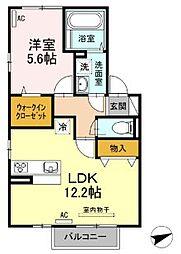 D−ROOM 梅満[2階]の間取り