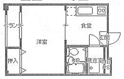 ピアシティ魚崎[402号室号室]の間取り