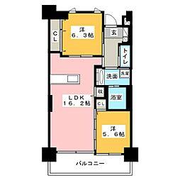 白壁リンクス[2階]の間取り