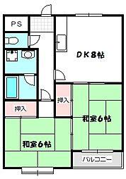 大阪府守口市大久保町3丁目の賃貸マンションの間取り