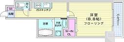 レガーロ仙台駅東 8階1Kの間取り