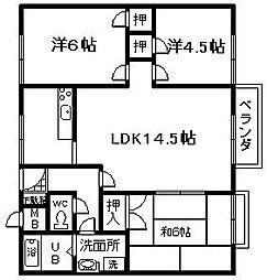 藤住宅[102号室]の間取り