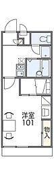 近鉄奈良線 東花園駅 徒歩37分の賃貸アパート 2階1Kの間取り