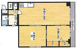 第二大興ビル[6階]の間取り