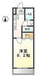 愛知県あま市甚目寺山之浦の賃貸マンションの間取り