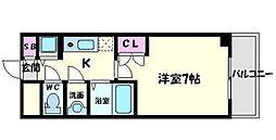 京阪本線 守口市駅 徒歩1分の賃貸マンション 5階1Kの間取り
