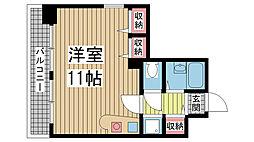 グランデール新神戸[701号室]の間取り