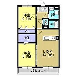 プランドールR−1[1階]の間取り