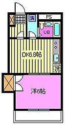 埼玉県さいたま市中央区上峰2丁目の賃貸マンションの間取り