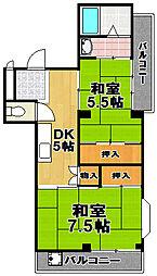 アーバンコート[4階]の間取り