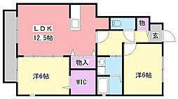 兵庫県小野市大島町の賃貸アパートの間取り