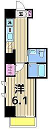 朱雀楼 東京[8階]の間取り
