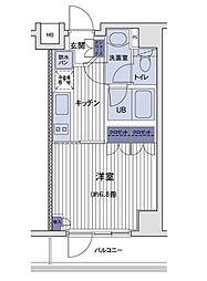 コンフォリア三田トロワ[2階]の間取り