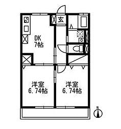 エルハイムC-2[102号室]の間取り