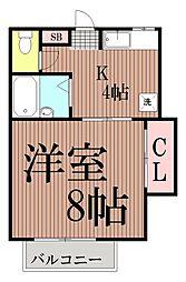 東京都大田区中央4丁目の賃貸マンションの間取り
