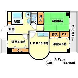 リーリオ江坂[10階]の間取り
