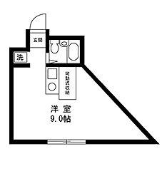 Y BUILDING[203号室]の間取り