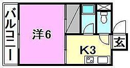 持田ハイツ(南持田)[301 号室号室]の間取り