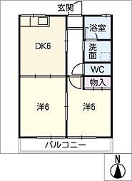 ホワイトベル[2階]の間取り